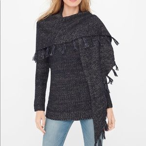 {WHBM} Scarf Pullover Sweater